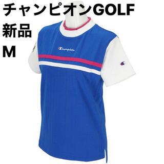 チャンピオン(Champion)の新品M チャンピオンゴルフ Champion GOLF 半袖モックネックシャツ(ウエア)