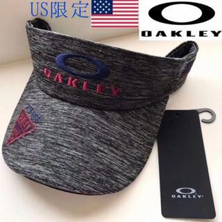 オークリー(Oakley)のレア【新品】OAKLEY USA GOLF キャップ サンバイザー テニス(サンバイザー)