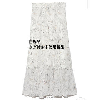 snidel - SNIDEL ヘムフレアプリントスカート