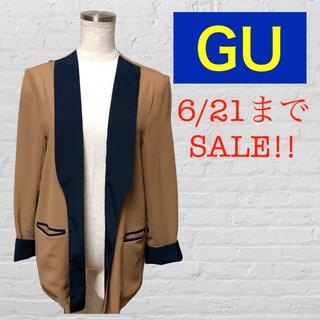 ジーユー(GU)のGU ノーカラージャケット シースルー シアー(ノーカラージャケット)