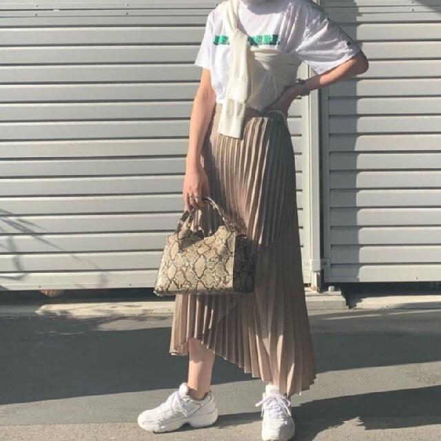 CAPRICIEUX LE'MAGE(カプリシューレマージュ)のリネンタッチプリーツスカート レディースのスカート(ロングスカート)の商品写真