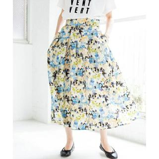 IENA - イエナ かすれフラワーギャザースカート 40 新色