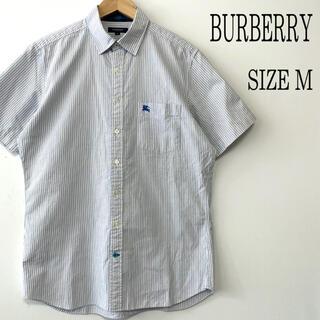 バーバリー(BURBERRY)のBURBERRY LONDON バーバリー 半袖 ストライプシャツ M(シャツ)