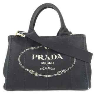 プラダ(PRADA)のプラダ カナパ ミニ     キャンバス     黒   レディー(ハンドバッグ)