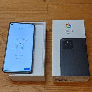 Google - Google Pixel 4a 5G 128GB Just Black ケース付