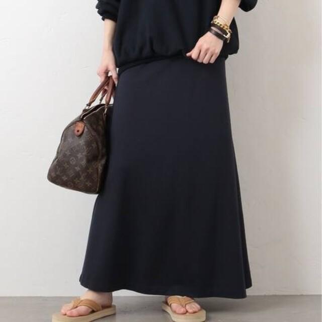 DEUXIEME CLASSE(ドゥーズィエムクラス)の値下!ドゥーズィエムクラス Jerseyフレアスカート 新品ネイビー ジャージー レディースのスカート(ロングスカート)の商品写真