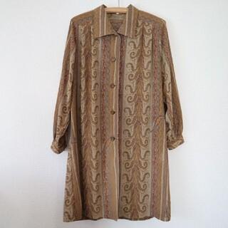 Lochie - vintage ペイズリー柄 ロングシャツ ロングブラウス