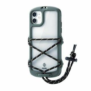 エレコム(ELECOM)のiPhone11用NESTOUT/Fes&Campケース オリーブ(iPhoneケース)