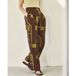 TODAYFUL - TODAYFUL  Geometric Tuck Trousers/36