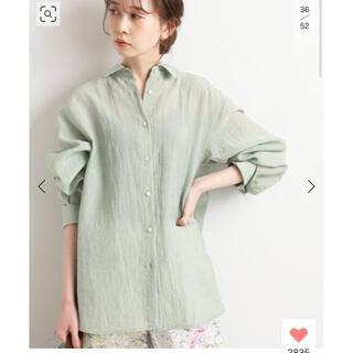 IENA - IENA ヴィンテージワッシャーオーバーシャツ size36