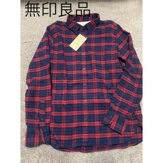 MUJI (無印良品) - 無印良品 新品 チェックシャツ シャツ ネルシャツ トップス ロンT