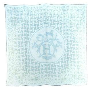 エルメス(Hermes)のエルメス MOSAIQUE AU 24 カレ 90 大判 スカーフ シルク 緑(バンダナ/スカーフ)