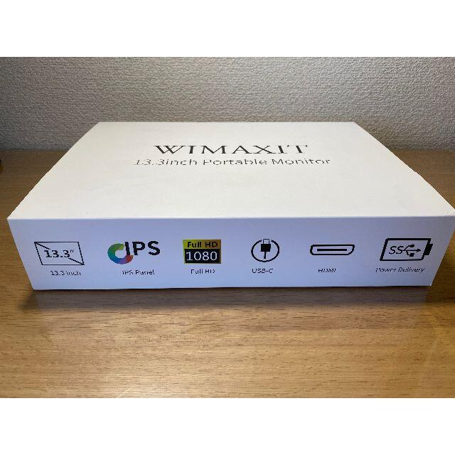 WIMAXIT 13.3inch Portable Monitor スマホ/家電/カメラのPC/タブレット(ディスプレイ)の商品写真
