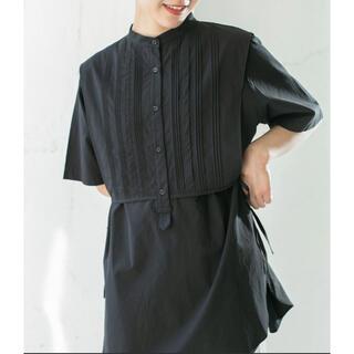 ケービーエフ(KBF)のピンタックレイアードシャツ(シャツ/ブラウス(半袖/袖なし))
