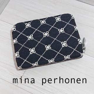 mina perhonen - ミナペルホネン カード入れ 財布(コインケース付き) flower beads