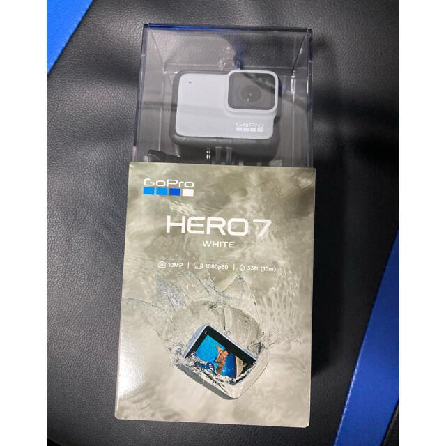 GoPro(ゴープロ)の【新品】  GoPro HERO7 whiteアクションカメラ ビデオカメラ  スマホ/家電/カメラのカメラ(ビデオカメラ)の商品写真