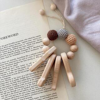 木製 工具モチーフ 歯固めブレスレット(がらがら/ラトル)