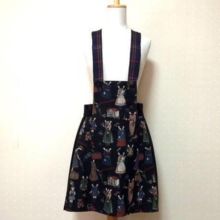 ジェーンマープル(JaneMarple)のペーパードールサロペットスカート(ミニワンピース)