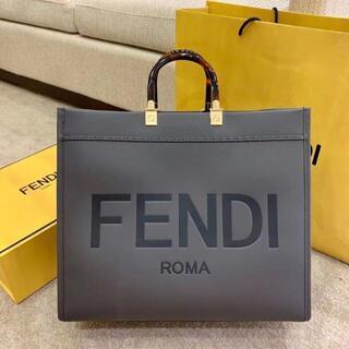 FENDI - FENDI サンシャイン ミディアム ショッパー グレー フェンディトートバッグ