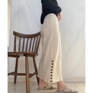 【SELECT MOCA】ニットボタンスカート