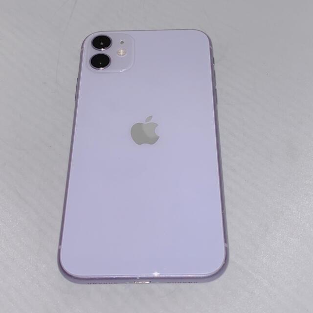 Apple(アップル)の【バッテリー90%】iPhone11 128GB 本体 紫 パープル スマホ/家電/カメラのスマートフォン/携帯電話(スマートフォン本体)の商品写真