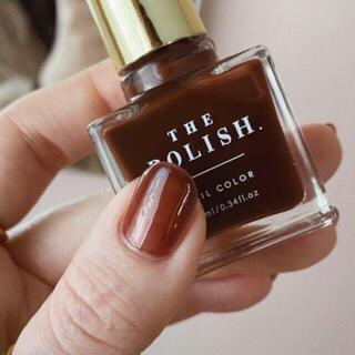 the polish ネイル ブラックティー