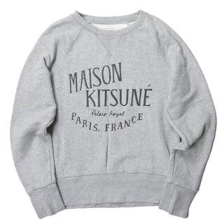 MAISON KITSUNE' - MAISON KITSUNE ダメージ加工 ラグランクルーネックスウェット