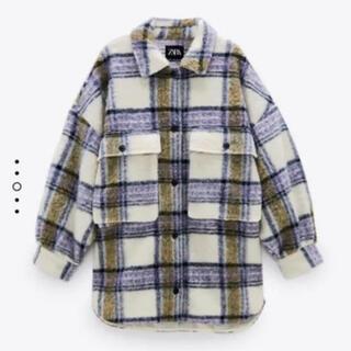 ザラ(ZARA)のZARA チェック柄オーバーサイズシャツジャケット(その他)