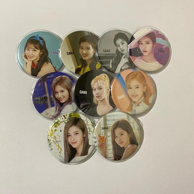 Waste(twice)(ウェストトゥワイス)のTWICE サナ 缶バッジ エンタメ/ホビーのCD(K-POP/アジア)の商品写真