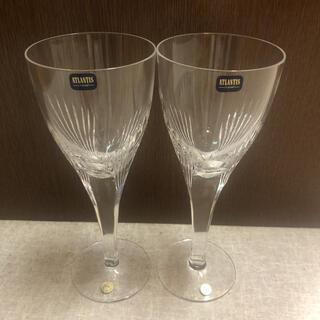 イッタラ(iittala)の新品未使用!ATRANTIS crystal*ペアワイングラス(グラス/カップ)