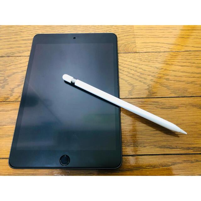 iPad(アイパッド)のiPad mini 5 256gb  gy Apple pencil付 スマホ/家電/カメラのPC/タブレット(タブレット)の商品写真