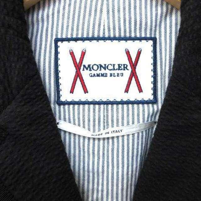 MONCLER(モンクレール)のモンクレール ガムブルー 17SS テーラードジャケット シアサッカー M 黒  メンズのジャケット/アウター(テーラードジャケット)の商品写真