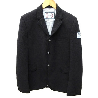 モンクレール(MONCLER)のモンクレール ガムブルー 17SS テーラードジャケット シアサッカー M 黒 (テーラードジャケット)