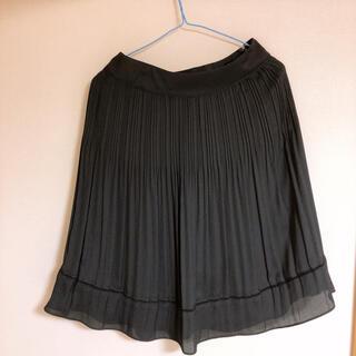 エニィスィス(anySiS)の黒 膝丈スカート フォーマルスカート(ひざ丈スカート)