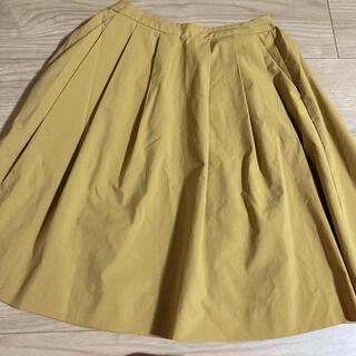 ユニクロ(UNIQLO)のユニクロ フレアスカート イエロー(ひざ丈スカート)