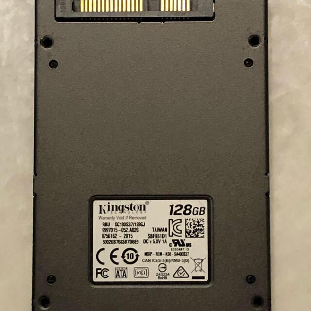 動作532H Kingston SSD RBU-SC180S37/128GJ スマホ/家電/カメラのPC/タブレット(PCパーツ)の商品写真