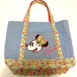 Disney - ミニー マザーズバッグ トートバッグ 花柄 ディズニーランド