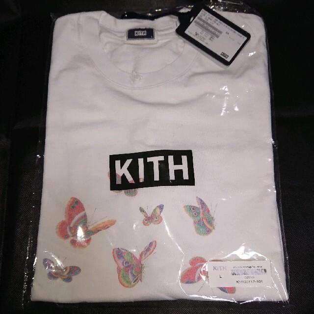 KEITH(キース)の【Lサイズ】KITH boxlogo tee キス ボックスロゴ Tシャツ 蝶々 メンズのトップス(Tシャツ/カットソー(半袖/袖なし))の商品写真