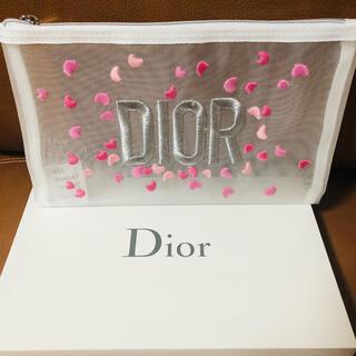 Christian Dior - sale 【非売品】Dior 刺繍 リボン柄/メッシュポ―チ【新品】