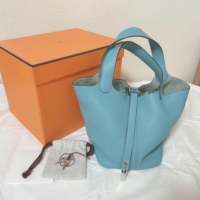 Hermes(エルメス)のHERMES エルメス ピコタン PM 18 美品 ブルーサンシエール レディースのバッグ(ハンドバッグ)の商品写真