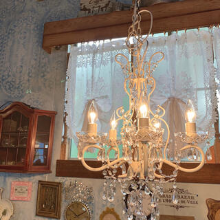 Antique style /  アクリルビーズ シャンデリア 5灯式(天井照明)