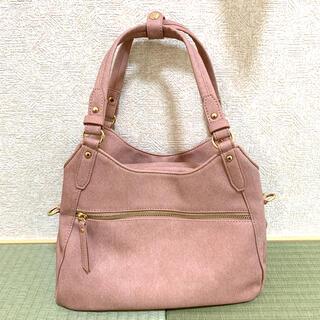 シマムラ(しまむら)のトートバッグ ショルダーバッグ 2way ピンク(ショルダーバッグ)