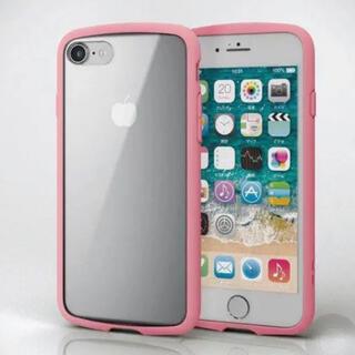 エレコム(ELECOM)の新品 iPhone 8 iPhone7 iphoneSE(第二世代) ピンク(iPhoneケース)