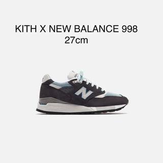"New Balance - KITH × NEW BALANCE 998 ""STEEL BLUE"" 27cm"