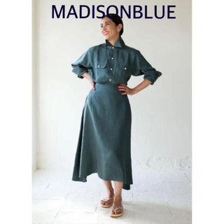 MADISONBLUE - 【MADISONBLUE 】MI-MOLLETFLARE SKIRT LINEN
