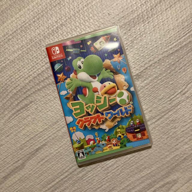 Nintendo Switch(ニンテンドースイッチ)のswitch ヨッシークラフトワールド エンタメ/ホビーのゲームソフト/ゲーム機本体(家庭用ゲームソフト)の商品写真