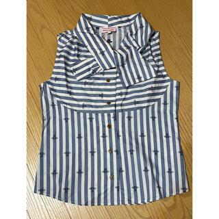 ヴィヴィアンウエストウッド(Vivienne Westwood)のVivienne Westwood  Red Label ノースリーブシャツ(シャツ/ブラウス(半袖/袖なし))