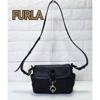 フルラ(Furla)のフルラ FURLA ショルダーバッグ 黒 美品 斜め掛け ポシェット(ショルダーバッグ)