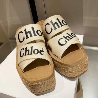 Chloe クロエ「Woody」 ウェッジミュール サンダル