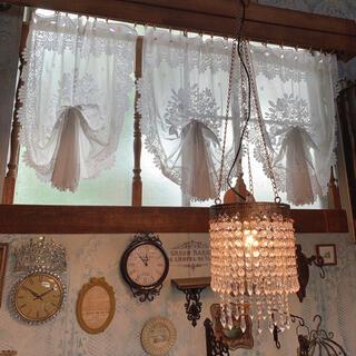 Antique style /  アクリルビーズ ペンダントライト/ゴールド (天井照明)